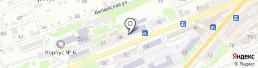 Учебно-курсовой комбинат Камчатского края на карте Петропавловска-Камчатского