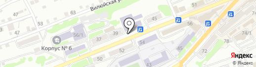 Учебно-курсовой комбинат Камчатского края, ГУП на карте Петропавловска-Камчатского