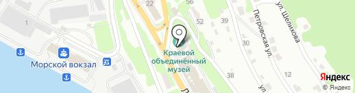 Библиотека на карте Петропавловска-Камчатского