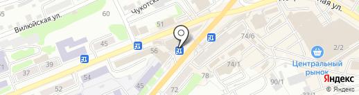 Банкомат, Совкомбанк, ПАО на карте Петропавловска-Камчатского