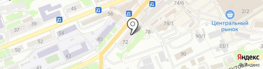 ВЕЗИтакси на карте Петропавловска-Камчатского