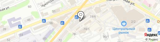 Маккам бургер на карте Петропавловска-Камчатского