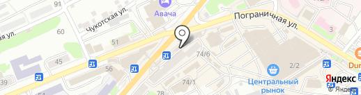 Кондитерская на карте Петропавловска-Камчатского