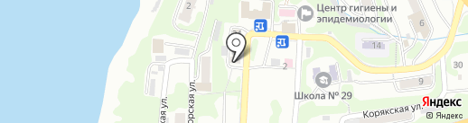 Аптека №27 на карте Петропавловска-Камчатского