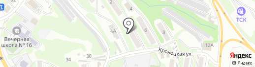Дом культуры глухонемых на карте Петропавловска-Камчатского