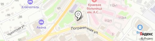 Мария на карте Петропавловска-Камчатского
