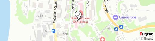 Камчатская больница на карте Петропавловска-Камчатского