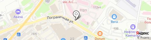 Точка Доступа на карте Петропавловска-Камчатского