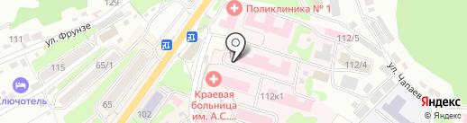 Камчатская краевая больница им. А.С. Лукашевского на карте Петропавловска-Камчатского