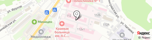 Траур на карте Петропавловска-Камчатского