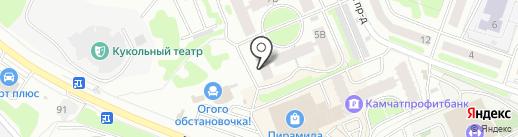 Дом-21 век на карте Петропавловска-Камчатского