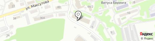 Морские линии на карте Петропавловска-Камчатского