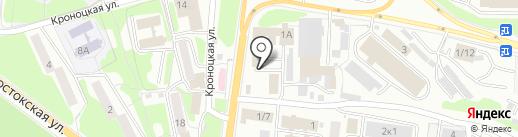 Вестник на карте Петропавловска-Камчатского