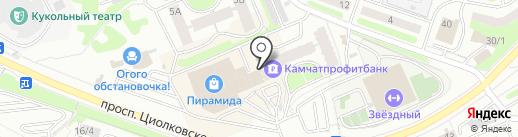 Камчатское время на карте Петропавловска-Камчатского