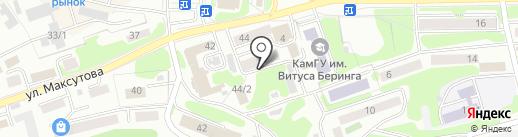 Центр обеспечения действий по ГО и ЧС и пожарной безопасности в Камчатском крае на карте Петропавловска-Камчатского