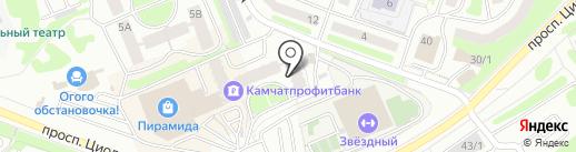 Камчатское долговое агентство на карте Петропавловска-Камчатского