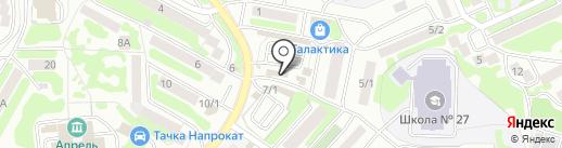 Рыбный магазин на карте Петропавловска-Камчатского