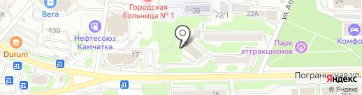 Министерство строительства Камчатского края на карте Петропавловска-Камчатского