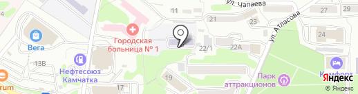 Детский сад №44 на карте Петропавловска-Камчатского
