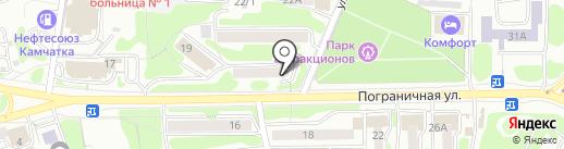 Вычислительная техника на карте Петропавловска-Камчатского