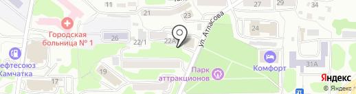 Фитнес-клуб на карте Петропавловска-Камчатского