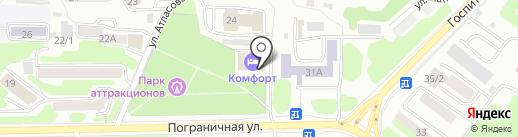 Комфорт на карте Петропавловска-Камчатского
