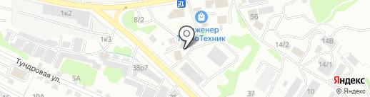 Галкам на карте Петропавловска-Камчатского