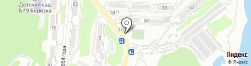 Рябинушка на карте Петропавловска-Камчатского