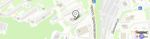 Поллукс на карте Петропавловска-Камчатского