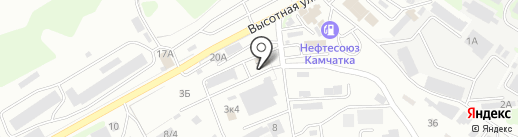 Сфинкс на карте Петропавловска-Камчатского