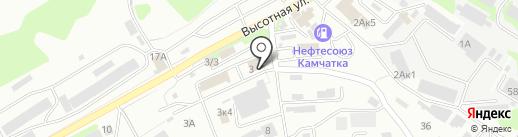 Иномарка на карте Петропавловска-Камчатского