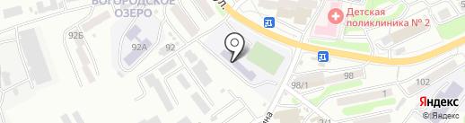 Средняя школа №10 на карте Петропавловска-Камчатского