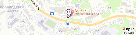 Городская детская поликлиника №2 на карте Петропавловска-Камчатского