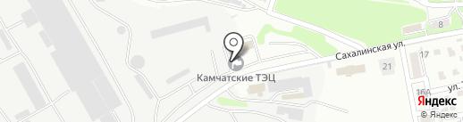 ТЭЦ-1 на карте Петропавловска-Камчатского
