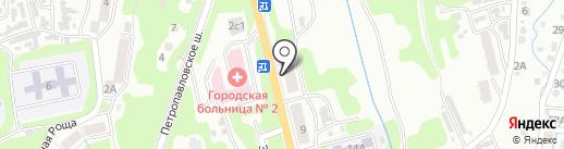 Станция медицинской скорой помощи на карте Петропавловска-Камчатского
