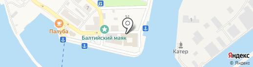 Золотой Якорь на карте Балтийска