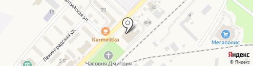 Виктория Квартал на карте Балтийска