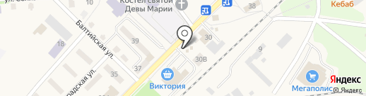 Магазин кондитерских изделий на карте Балтийска