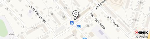 Юнона на карте Балтийска