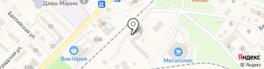 Балтвода, МУП на карте Балтийска