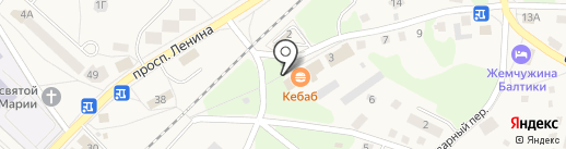 Служба заказчика г. Балтийска, МУП на карте Балтийска