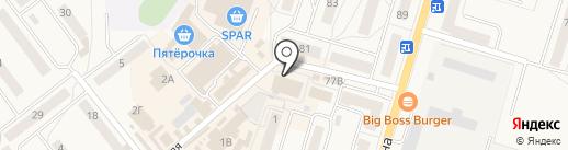 Кенингзайм на карте Балтийска