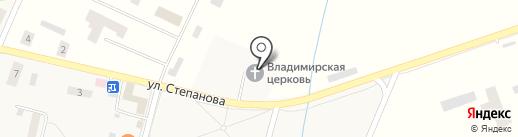 Храм в честь Владимирской иконы Божией Матери на карте Донского