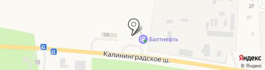 АЗС Балтнефть на карте Приморска