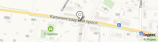 Магазин одежды и обуви на карте Светлогорска