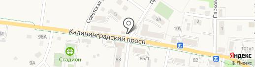 Почтовое отделение №1 на карте Светлогорска