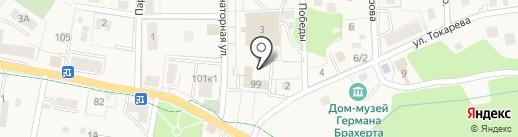 Баловень на карте Светлогорска