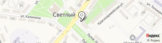 Банкомат, Банк Уралсиб, ПАО на карте Светлого