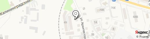 Гренч на карте Светлогорска