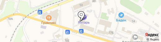 Янтарь на карте Светлогорска